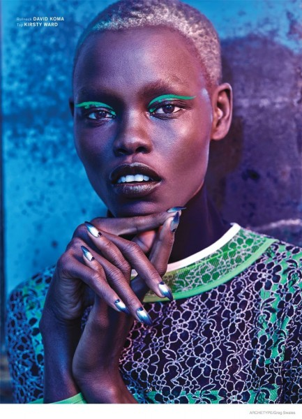 CoverGirl: GRACE BOL BY GREG SWALES FOR ARCHETYPE MAGAZINE F/W 2014-15 COVER SHOOT
