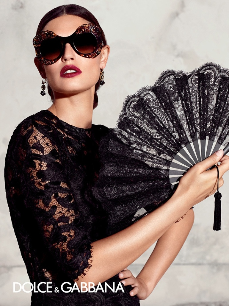 1233f30a5 Bianca Balti poses for Dolce & Gabbana once again with the Italian label's  spring-summer 2015 eyewear campaign.