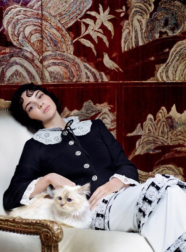 Kendall-Jenner-Choupette-Lagerfeld-Vogue