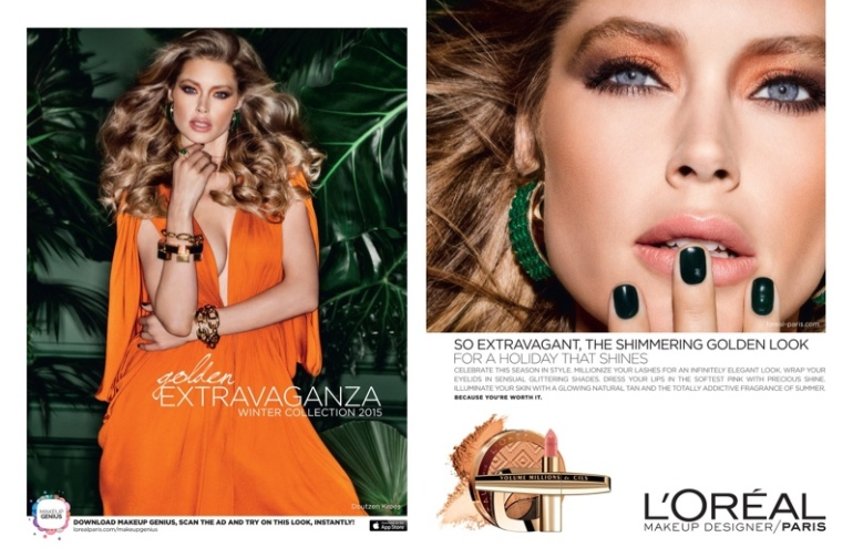Doutzen-Kroes-Loreal-Paris-Holiday-2015-Makeup-Ads01