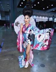 Gia Gunn during the RuPaul DragCon 2016, held at the Los Angeles Convention Center in Los Angeles, California, Saturday, May 7, 2016. Photo by Jennifer Graylock-Graylock.com 917-519-7666