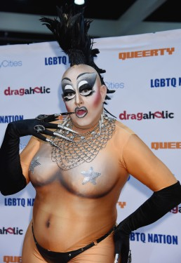 Woo Woo Monroe during the RuPaul DragCon 2016, held at the Los Angeles Convention Center in Los Angeles, California, Saturday, May 7, 2016. Photo by Jennifer Graylock-Graylock.com 917-519-7666