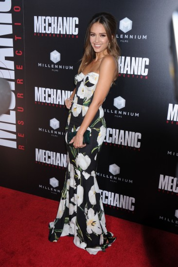 Jessica Alba during the Mechanic Resurrection Los Angeles Premiere, held at the Arclight Cinema in Hollywood, California, Monday, August 22, 2016. Photo by Jennifer Graylock-Graylock.com 917-519-7666
