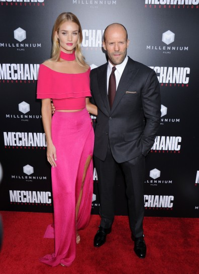 Rosie Huntington-Whiteley, Jason Statham during the Mechanic Resurrection Los Angeles Premiere, held at the Arclight Cinema in Hollywood, California, Monday, August 22, 2016. Photo by Jennifer Graylock-Graylock.com 917-519-7666